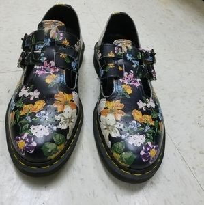 Dr Marten floral Mary janes